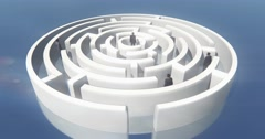 4k many businessmen standing in the maze. Stock Footage