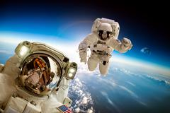 Astronaut in outer space Stock Photos