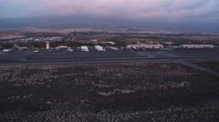 Approaching Kona Airport, Hawaii. Shot in 2010. - stock footage