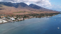 Past Lahaina oceanfront, Hawaii. Shot in 2010. - stock footage