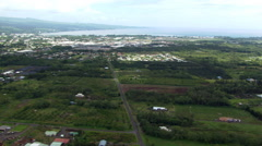 Over Hilo, Hawaii. Shot in 2010. Stock Footage