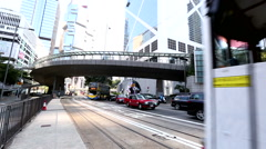 Traffic in Hong Kong. - stock footage