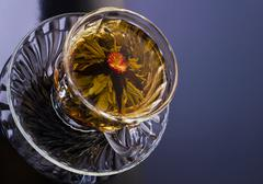 Chinese flower tea in a cup Stock Photos