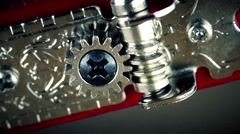 Guitar Tuning Cog Close Up, colour corrected Stock Footage