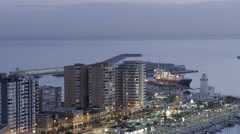 Malaga Harbor Time-Lapse  - stock footage