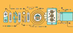 Concept of Smart Home and Control Device Stock Illustration