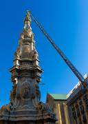 Obelisk in  center of naples Stock Photos