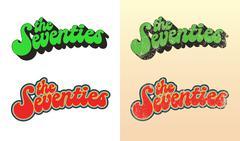 The Seventies 2 Stock Illustration