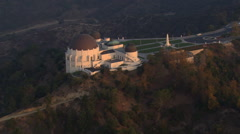 Orbiting Griffith Park Observatory in Los Angeles. Shot in 2008. Stock Footage