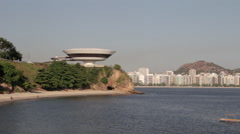 Contemporary Art Museum of Niterói Stock Footage