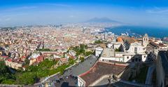 Panoramic view of Naples city, Italy - stock photo