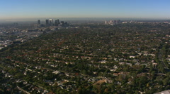 Wide aerial view of Beverly Hills, California. Shot in 2008. Stock Footage