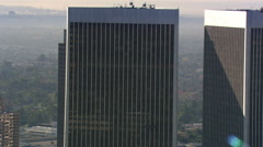 Orbiting Century City skyscrapers in Los Angeles area. Shot in 2008. Stock Footage