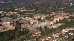 Flying over UCLA campus in Los Angeles. Shot in 2008. Stock Footage