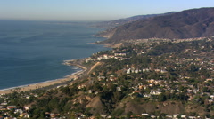 Aerial view of California's Malibu coastline. Shot in 2008. Stock Footage
