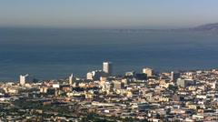 Flying over Santa Monica, looking seaward. Shot in 2008. - stock footage
