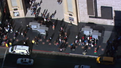 Flight over Hollywood Walk of Fame. Shot in 2008. - stock footage