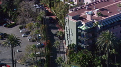 From close fly-by to wide view of Beverly Hills Hotel. Shot in 2008. Stock Footage