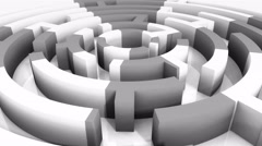 4k rotating mosaics pattern maze,abstract business & tech background. Stock Footage