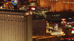 Low flight behind casinos on The Strip in Las Vegas. Shot in 2005. Stock Footage