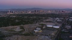 Approaching Las Vegas from above residential area. Shot in 2008. Stock Footage