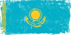 Stock Illustration of Kazakhstan Vector Flag on White