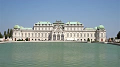 Belvedere Palace In Vienna - stock footage