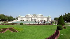 Belvedere Palace In Vienna Stock Footage