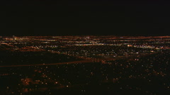 Stock Video Footage of High view of sprawling Las Vegas at night. Shot in 2008.