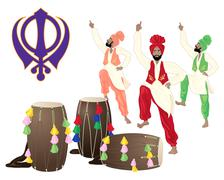 cultural punjab - stock illustration