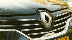 Renault Logo on a Renault Initiale Luxury car - stock footage