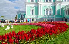 Territory of Holy Trinity Seraphim-Diveevo convent Diveevo, Russia - stock photo