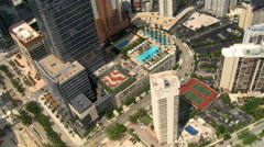 High flight over Miami skyscrapers. Shot in 2007. Stock Footage