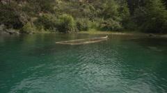 Sunken boat Stock Footage