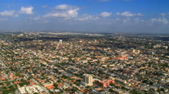 Flying over Miami urban sprawl. Shot in 2007. Stock Footage