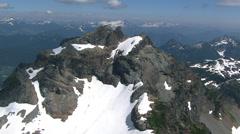 Orbiting rocky peak in British Columbia, Canada Stock Footage