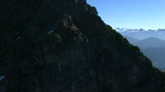 Partial orbit of three granite upthrusts in British Columbia, Canada - stock footage