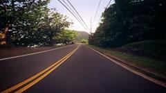 Driving Along Oahu Coast Stock Footage
