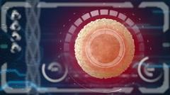 Sperm, spermatozoon fertilizes the cell egg. Medical concept future - stock footage