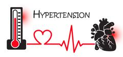 Essential or Primary Hypertension ( high blood pressure )( sphygmomanometer c - stock illustration