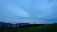 Sunrise on the salt lake Uchum, Krasnoyarsk Krai, Russia, Full HD Stock Footage