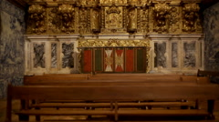 Jesus Christ, angels, saints made from gold, Church of St. Francis, tilt up Stock Footage