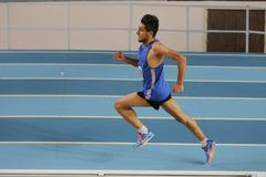 Indoor Athletics Record Attempt Races - stock photo