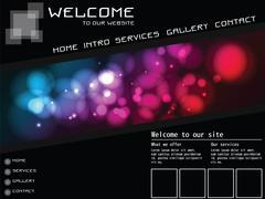 Website template elements, futuristic, homepage, vector Stock Illustration