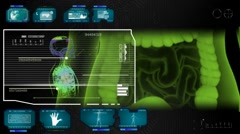 Digestion - Super Spy Monitor - blue 01 - stock footage