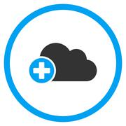 Create Cloud Rounded Icon - stock illustration