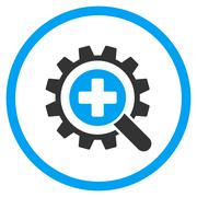 Find Medical Technology Rounded Icon Stock Illustration