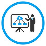 Health Care Structure Report Rounded Icon - stock illustration