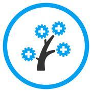Medical Technology Tree Rounded Icon - stock illustration