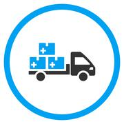 Medication Delivery Rounded Icon Stock Illustration